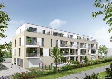 NEUBAU-ERSTBEZUG: Moderne 3-Zimmer-Wohnung mit Balkon, Aufzug und Küche!, 76351 Linkenheim-Hochstetten, Etagenwohnung